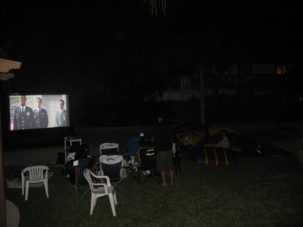 family inflatable movie screen